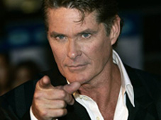 The Hoff pointing in a way only he could