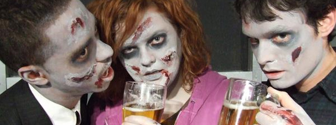 Pint and a zombie - a great British night!