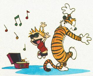 Calvin & Hobbes Bring The Rock