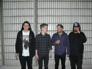 From left to right Connor (drums), Joe (lead guitar), Dave (guitar, vocals), Matt (bass, vocals)